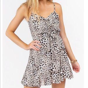 Francesca's Leopard Mini Dress